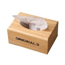 George Jimmy Wooden Pumping Tray Office Toilet Living Room Tissue Box Ho... - $14.99