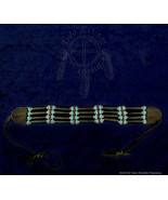 Black Horn Hairpipe w/ Turquoise & Silver Choker - $23.17