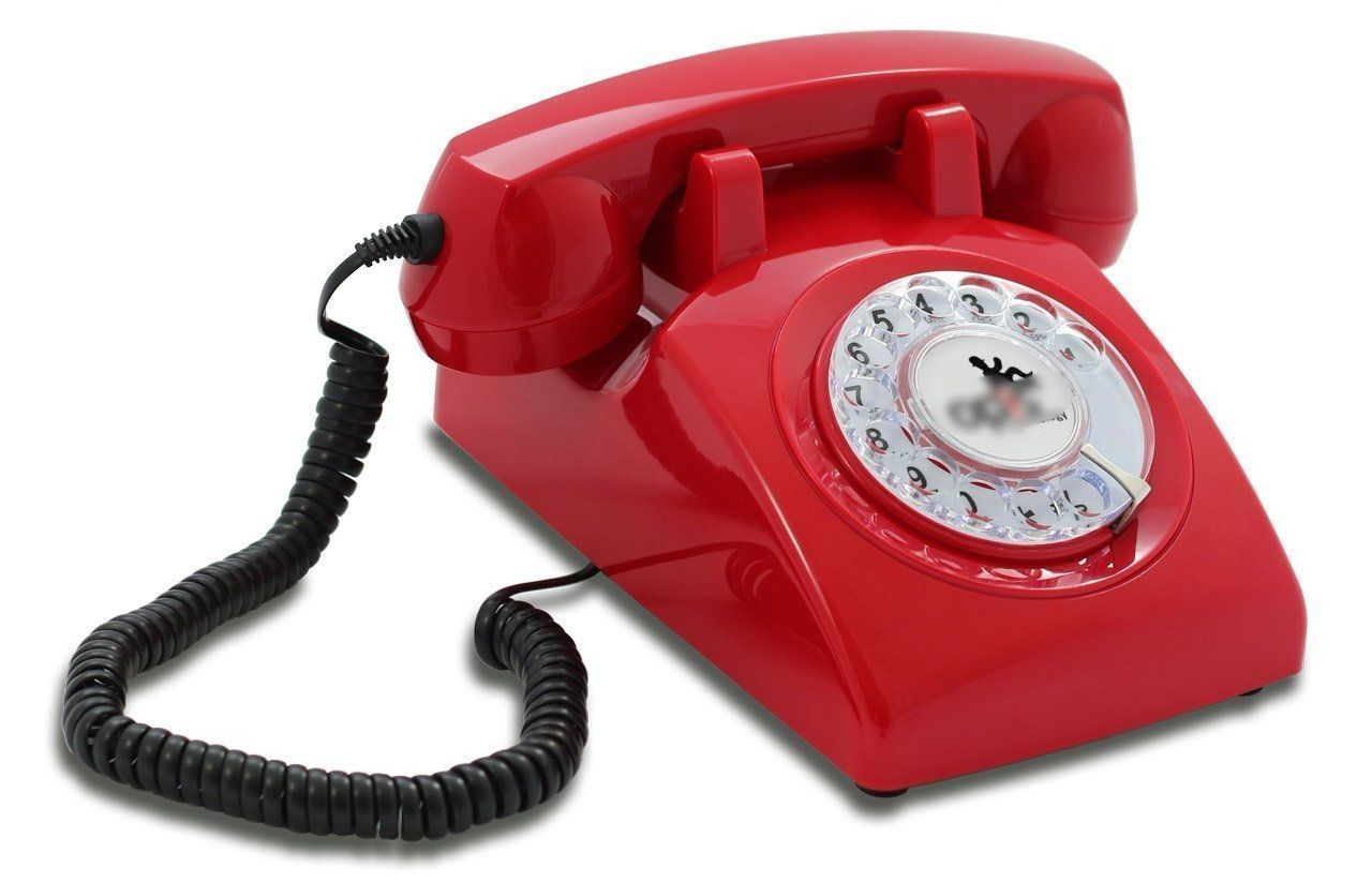 S L1600 Retro Vintage Telephone 1960s Red Desk