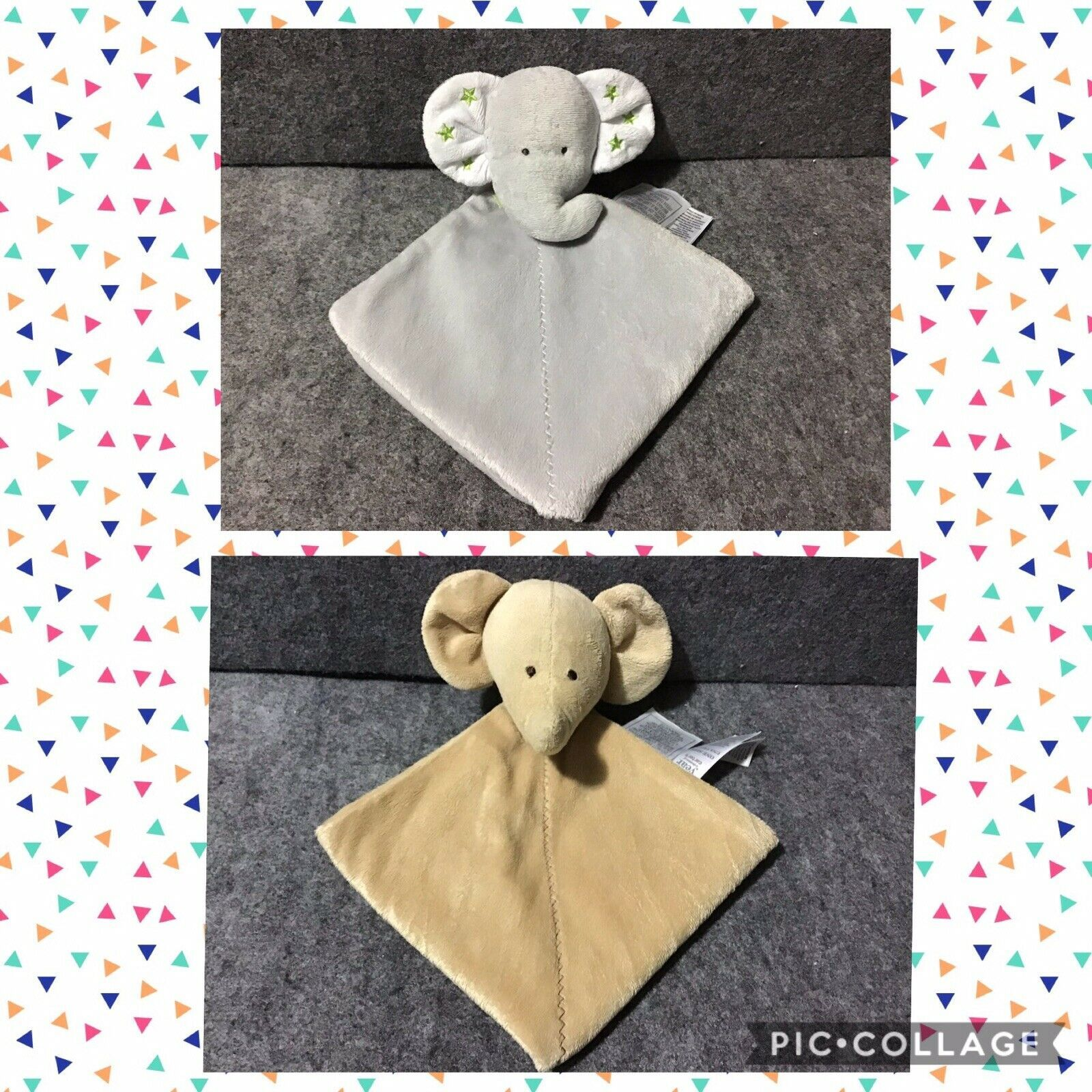Little Miracles White Lamb holding baby Security Blanket Costco zigzag