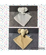 Carter's Brown Yellow Rattle Baby Security Blankets (Lot of 2) - $35.40