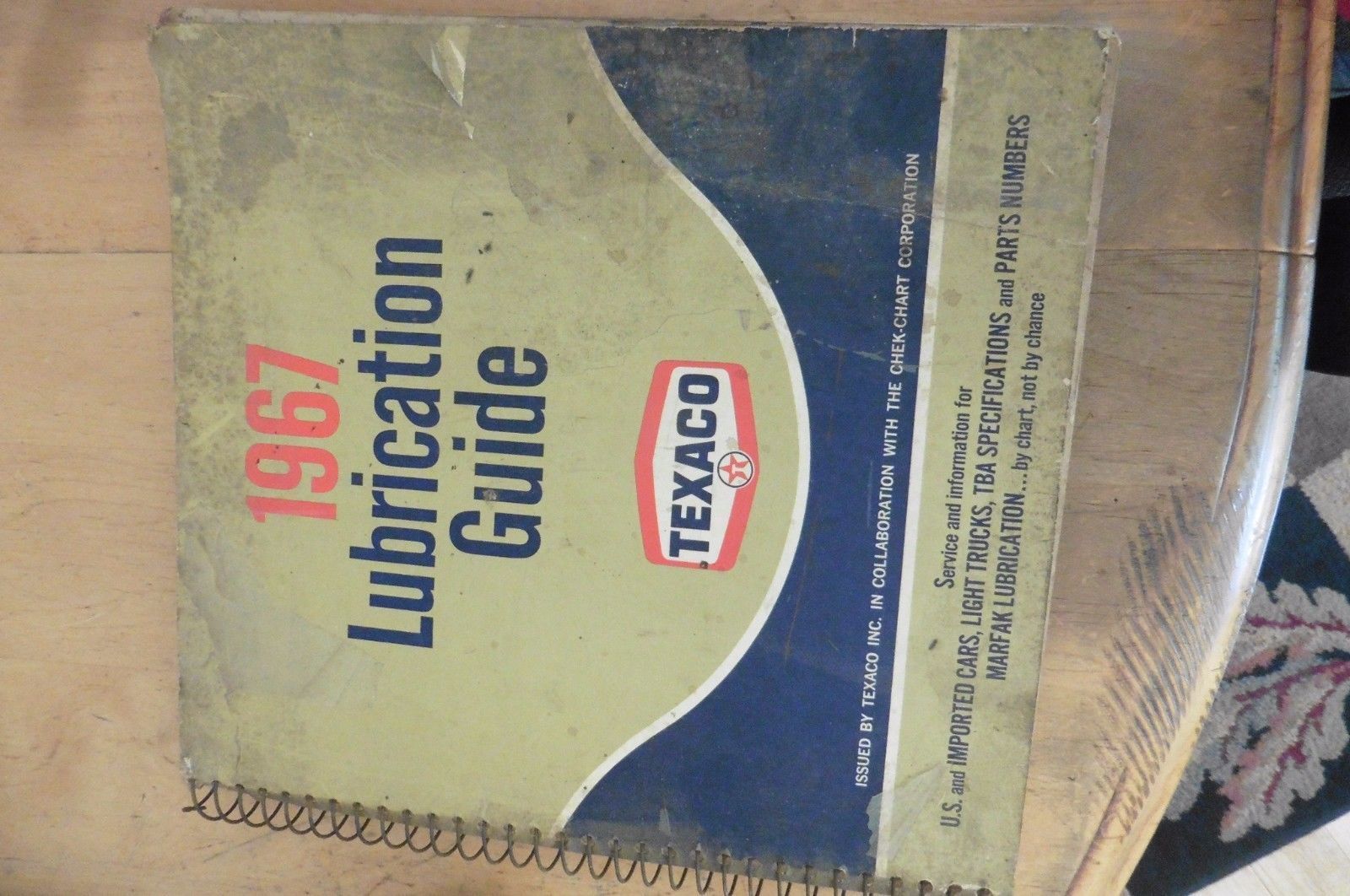 1967 Lubrication Guide Texaco Vintage Manual automotive service - $11.29