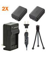2 Batteries + Charger for Sony Alpha NEX-6 NEX-6L NEX-6Y NEX6/B NEX6L/B ... - $44.88