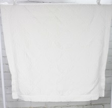 POTTERY BARN Euro Size Pillow Sham White Quilted Heavyweight 100% Cotton - $34.65
