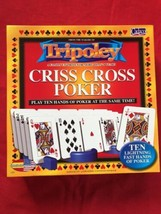 (NEW) Tripoley CRISS CROSS POKER Board Game 2 - 4 Players Ages 8+ Family - $5.70