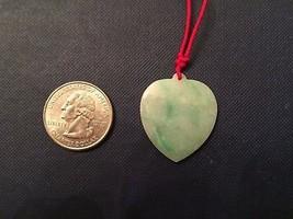 Vintage Translucent Burmese IMPERIAL GREEN JADE HEART PENDANT   - $49.00