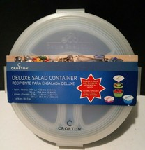 Crofton Deluxe Salad Bowl Portable Expandable Container Blue - $17.82