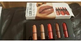 MAC Look in a Box Blazing Haute Lipstick Set of 5 beige red neutral nude... - $33.77