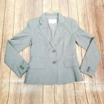 Banana Republic Mens Grey Lined Long Sleeve Blazer Jacket Button Coat Si... - $24.85