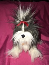 Gund Shih Tzu Dog Plush Stuffed Animal Gray Whi... - $15.90