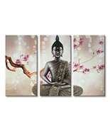Winpeak Pure Handmade Large Framed Canvas Art Buddha Oil Paintings on Ca... - $159.72