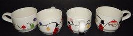 4 Christmas Santa Claus Hot Chocolate Coffee Tea Cup Mugs Holiday Hand P... - $29.69