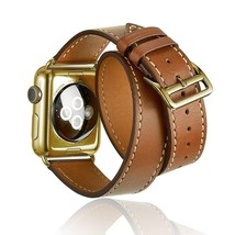 AWSTECH 38mm Luxury Leather Extra-Long Double Tour Band Strap Bracelet R... - $46.65