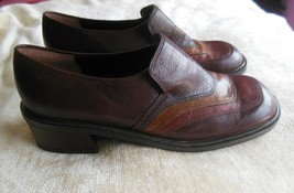 Rare Nine West Women's Brown Leather Danford Shoes Made in Brazil Size 7.5M - $65.00