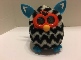 Hasbro Furby Boom Black White Teal Zig Zag Chevron Interactive Works 2012 - $14.01