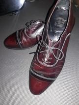 Florsheim Brown Leather Cap Toe Oxfords Men's Shoes 10.D  #33330 - $15.83