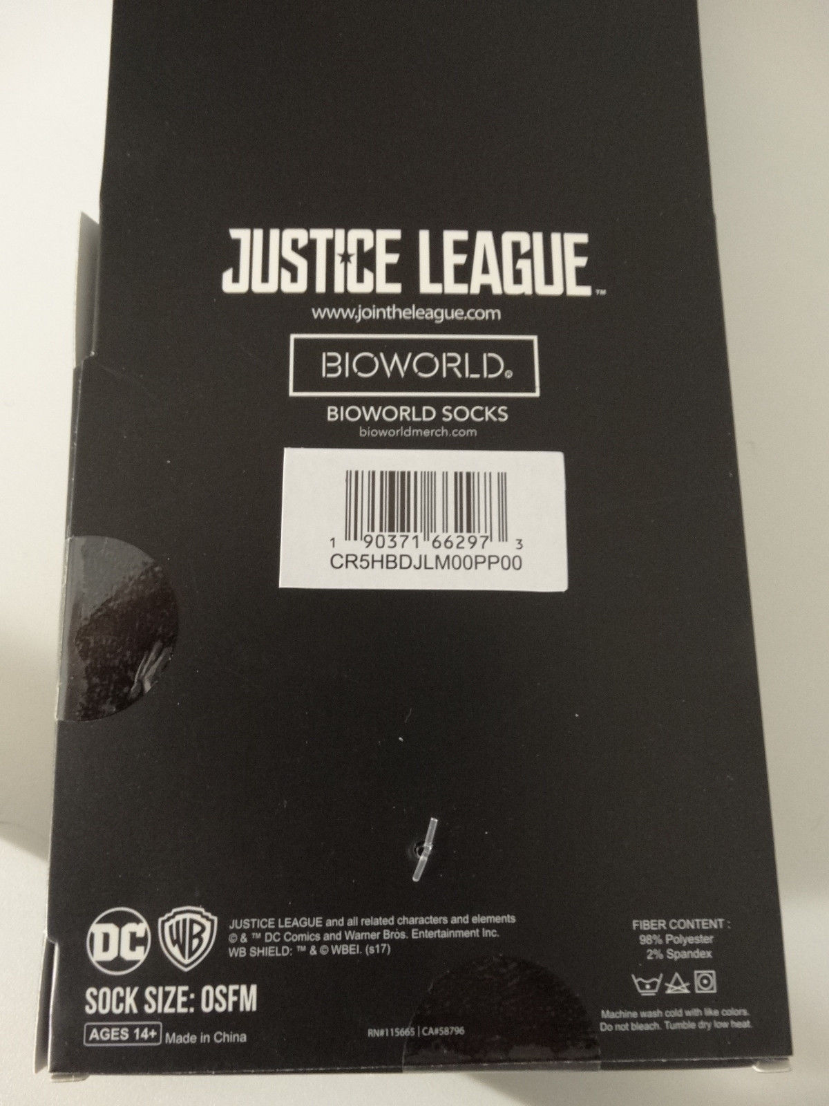 Justice League Cyborg DC Comics Adult 360 Crew Socks
