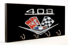 Chevrolet Engine 409 Big Block Wood 4 Key Hanger Holder Usa Made - $37.99