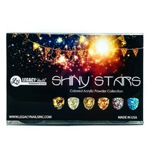 Legacy Nails SHINY STARS 6 Colored Acrylic Powder Collections 0.25oz each - $18.31