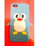 Lt Blue  Penguin Silicon Soft Rubber Skin Case Cover For Apple iPhone 5 ... - $2.96