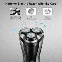 HATTEKER Electric Shaver Rotary Razor Men Cordless Beard trimmer Pop-trimmer Wet image 5