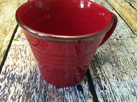 Starbucks Red Sand Pail Ceramic Coffee Cup Mug 2007 (Holds 14oz.) - $15.83