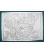 TURKEY in Europe Bulgaria Albania Serbia Bosnia - c. 1840 Original Map 1... - $22.95