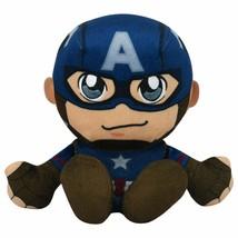 "Bleacher Creatures Marvel Captain America 8"" Kuricha Sitting Plush - Sof... - $12.86"