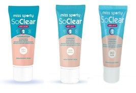 Miss Sporty So Clear Antibacterial Foundation Shine Control Reduce Spots... - $5.72+