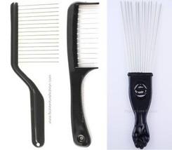 1 Piece Hair K-Cutter Detangler Comb Piks Lift afro braid or Metal Fan Pik - $3.42+