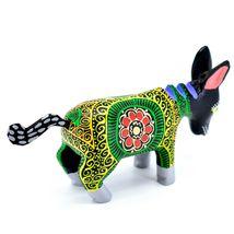 Handmade Alebrijes Oaxacan Wood Carved Painted Folk Art Donkey Burro Figurine image 4