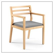 Steelcase Sawyer Wood Guest Chair by Steelcase, Fabric = Grey; Finish = Clear Ma - $403.00