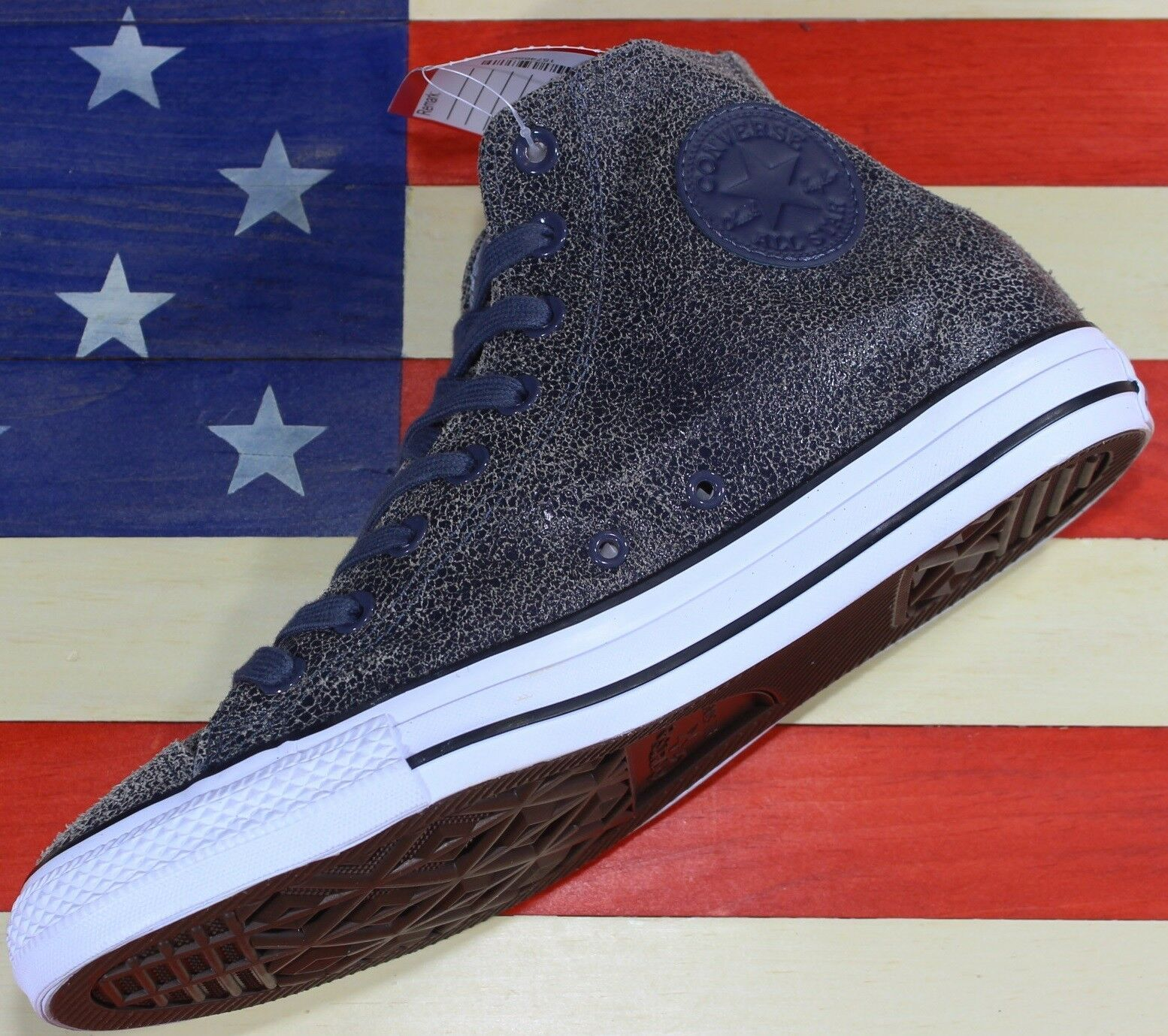 Primary image for CONVERSE SAMPLE Chuck Taylor ALL-STAR HI Shark skin Grey Black vtg[157465C] sz 9