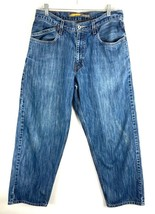 VTG Levi's Men's Silvertab Dark Wash Denim Baggy Loose Jeans Sz 33x29 - $54.45