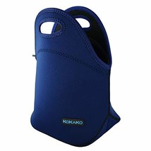 Lunch Boxes Neoprene Lunch Bag by KOKAKO Tote Washable Insulated Waterproof for  - $12.86
