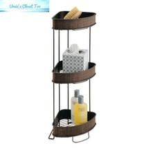 InterDesign Twillo Metal Wire Corner Standing Shower Caddy 3-Tier Bath S... - $34.15