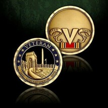 "WORLD WAR II VETERAN 1.75"" RIBBON CHALLENGE COIN - $18.04"