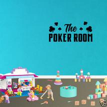 Wall Decal The Poker Room Decor Casino Gambling Sports Art Vinyl Sticker... - $9.49+