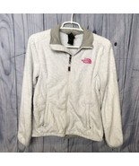 Women's The North Face Fuzzy Jacket, Small, Gray, Zip Up, 100% Polyester - $29.99