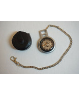 Harley-Davidson Pocket-Watch, Leather Case, & Chain, Bulova, Excellent Condition - $200.00