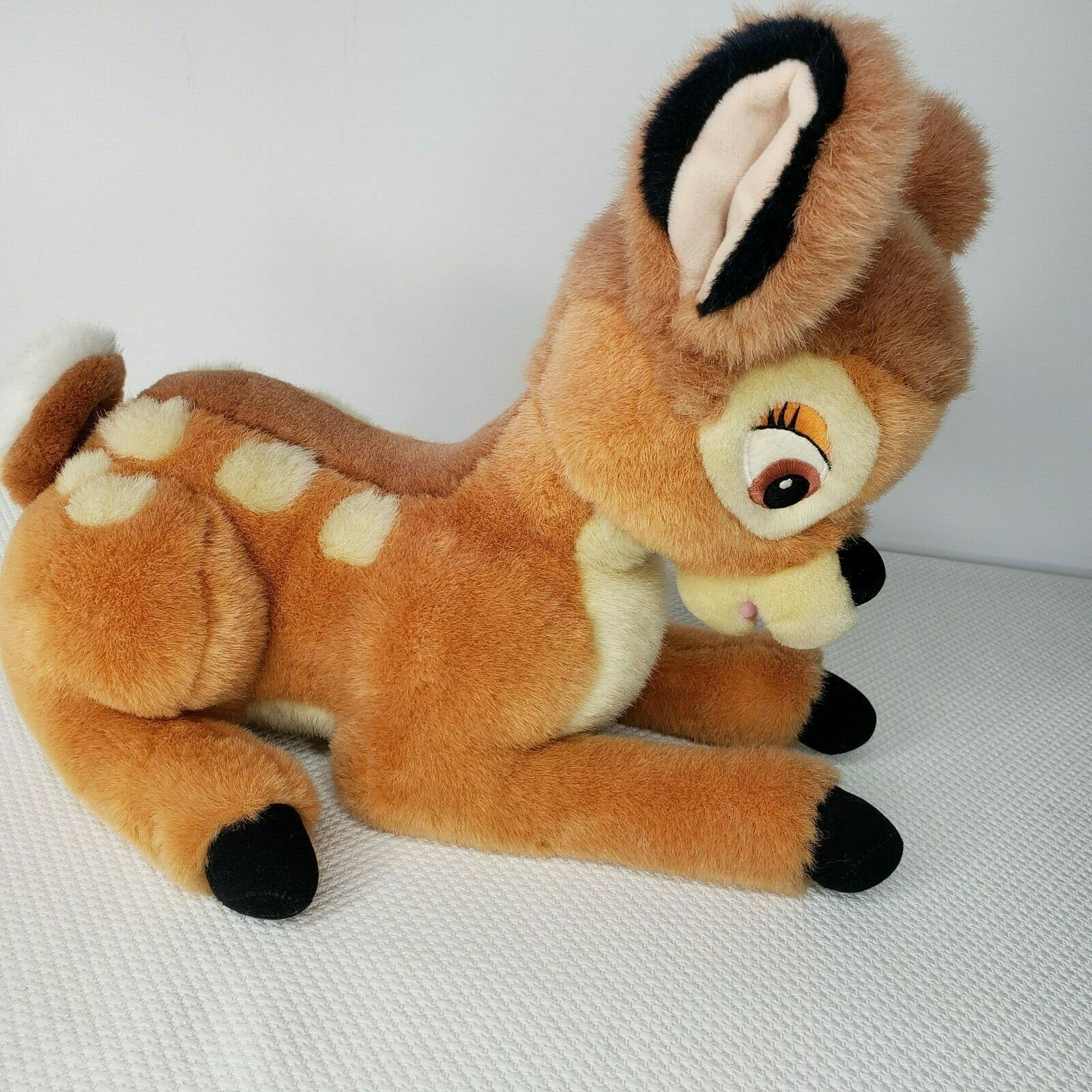"""Vintage Disney Plush Bambi Deer Fawn Stuffed Animal 14"""""""