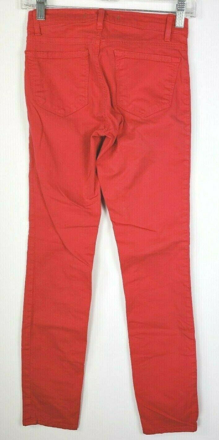 """J Brand """" Skinny Gamba """" Rosso Jeans 24 Cotone Elasticizzato Stile #811K120 image 3"""