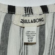 Billabong Women's Mi Amore Striped Off-the-Shoulder Woven Relaxed Fit Top Size S image 3
