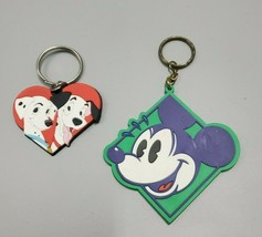 Vintage Applause Disney 101 Dalmations Mickey Mouse Rubber Keychain Key Ring Lot - $14.99