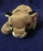 Ty Beanie Babies 1998 Canyon  Cougar Tag  Dented Top Edge PE - $1.14