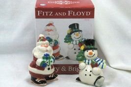 Fitz And Floyd 2011 Merry And Brite Salt And Pepper Shaker Set - $11.77