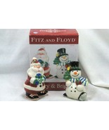 Fitz And Floyd 2011 Merry And Brite Salt And Pepper Shaker Set - $10.70
