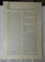 1902 Outlook Magazine Article Negro Disfranchisement in Louisiana Paul H... - $9.90