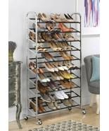 NEW Closet Shoe Storage Rack 50 Pair Organizer Save Space Standing Shelf... - $59.39