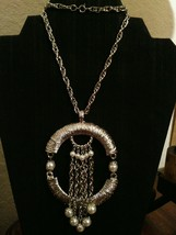 Vintage Asian Inspired Glam Pearls Pendant Necklace - $35.00